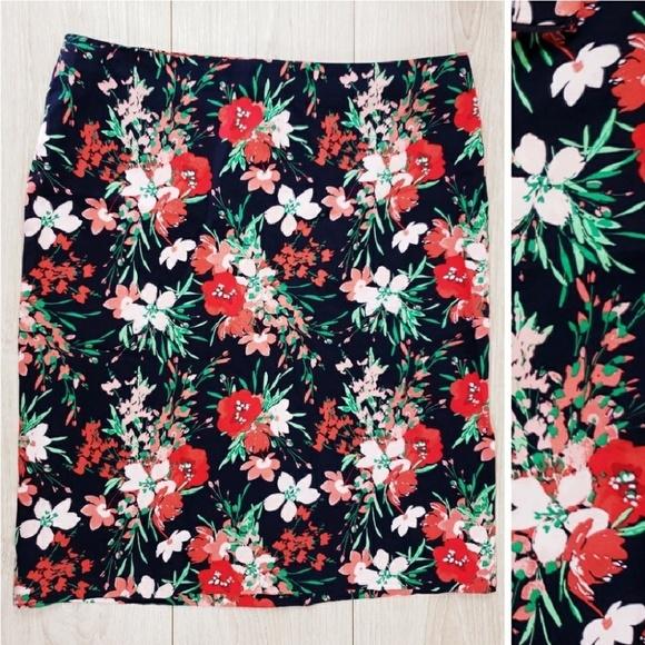 Talbots Dresses & Skirts - Talbots petits floral printed skirt size 12